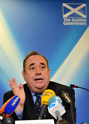 © licensed to London News Pictures. LONDON, UK  23/05/11. Alex Salmond addresses the Press at The Commonwealth Club in Northumberland Avenue, London.  Mr Salmond set out his vision for Scotland's constitutional future. Please see special instructions. Photo credit should read Stephen Simpson/LNP