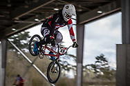 #49 (NYHAUG Tory) CAN at the 2018 UCI BMX Superscross World Cup in Saint-Quentin-En-Yvelines, France.