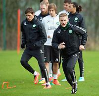 20/11/14<br /> CELTIC TRAINING <br /> LENNOXTOWN <br /> Celtic's Stefan Johansen in action at training