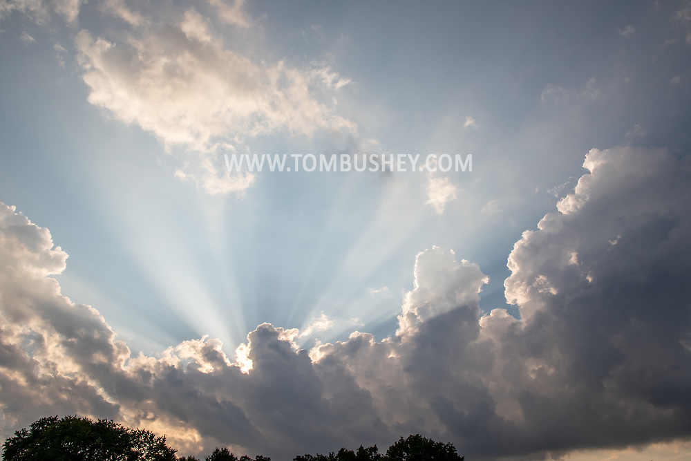 Clouds over MIddletown, N.Y.,  on July 25, 2021.