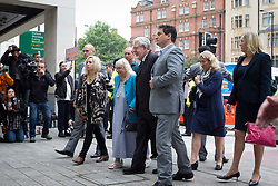 © Licensed to London News Pictures. 23/09/2013. London, UK. Artist and television celebrity Rolf Harris is seen arriving at Westminster Magistrates Court in London today (23/09/2013). Harris, 83, has been charged with nine counts of indecent assault and four counts of making indecent images of a child. The alleged indecent assaults date from 1980 to 1986 and relate to two complainants aged 14 and 15 at the timePhoto credit: Matt Cetti-Roberts/LNP