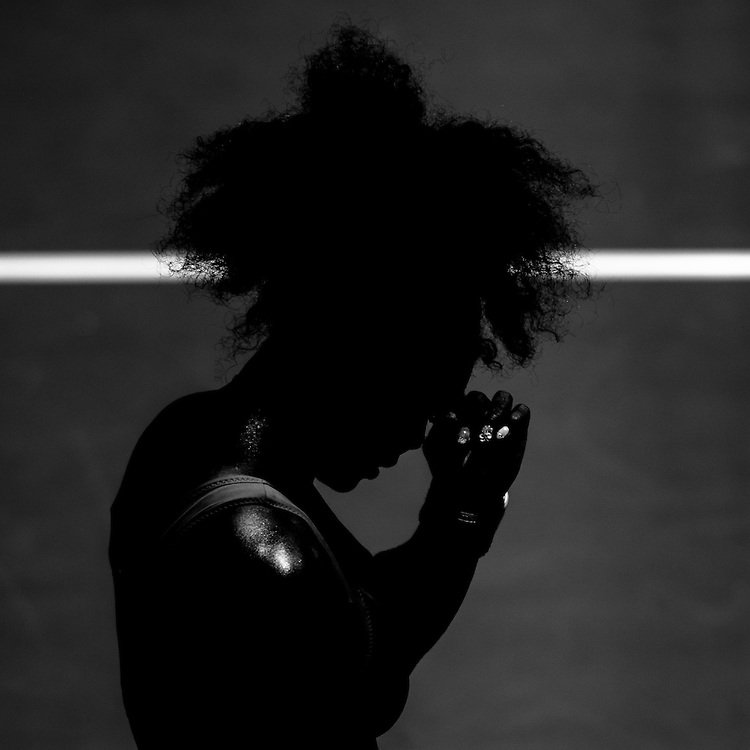 Serena Williams in play at The 2013 Australian Open - a Grand Slam Tournament - is the opening event of the tennis calendar annually. The Open is held each January in Melbourne, Australia. Serena Williams at play in the Australian Open in Melbourne, Victoria, Australia