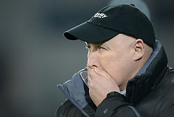 Cardiff City Manager, Russell Slade hols his hand over his mouth. - Photo mandatory by-line: Alex James/JMP - Mobile: 07966 386802 - 17/03/2015 - SPORT - Football - Cardiff - Cardiff City Stadium - Cardiff City v AFC Bournemouth - Sky Bet Championship