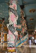 Cao Dai temple, Tay Ninh, near Ho Chi Minh city, Vietnam