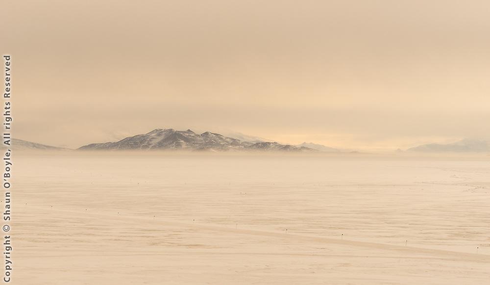 Wind blown snow on McMurdo Sound