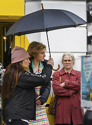 February 8, 2020, Manchester, United Kingdom: Actress EMMA CORRIN plays Diana, Princess of Wales as Manchester's Northern Quarter is transformed into New York for filming of a scene from Series 4 of 'The Crown'. The Netflix series has been filming a scene where Princess Diana visited Henry Street Settlement in New York during her official visit in February 1989. (Credit Image: © Stephen Cottrill/London News Pictures via ZUMA Wire)
