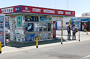 Tourist ticket office for ferries, trips, tours, Playa Blanca, Lanzarote, Canary Islands, Spain