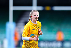 Vicky Laflin of Worcester Warriors Women warms up before the match - Mandatory by-line: Nick Browning/JMP - 14/11/2020 - RUGBY - Sixways Stadium - Worcester, England - Worcester Warriors Women v Loughborough Lightning - Allianz Premier 15s