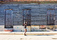 Weathered house in Cardenas, Matanzas, Cuba.