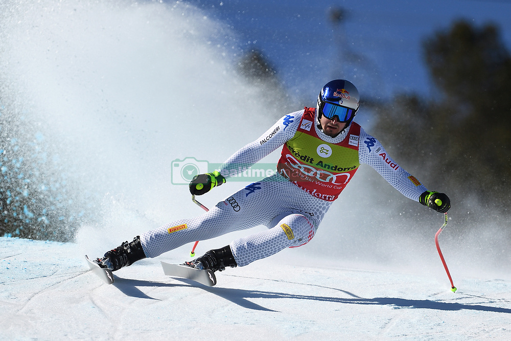 March 14, 2019 - ANDORRA - Dominik Paris (ITA) during Men's Super Giant of Audi FIS Ski World Cup Finals 18/19 on March 14, 2019 in Grandvalira Soldeu/El Tarter, Andorra. (Credit Image: © AFP7 via ZUMA Wire)