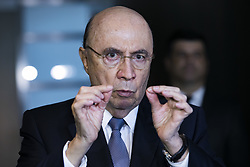August 3, 2017 - Sao Paulo, Brazil - Brazilian Finance Minister, HENRIQUE MEIRELLES, participated on Thursday (3), the 4th Annual Conference on Macroeconomics and Strategy in Brazil, At a press conference, Meirelles said he expects approval this year of tax reform for the country. (Credit Image: © Marcelo Chello/CJPress via ZUMA Wire)