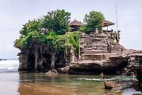 Bali, Tabanan, Tanah Lot temple at daylight.