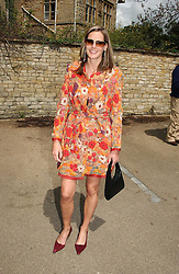 The HON.CAMILLA ASTOR  at the wedding of Hugh van Cutsem to Rose Astor in Burford, Oxfordshire on 4th June 2005.<br />