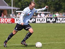 FODBOLD: Martin Junior Christensen (Helsingør) under kampen i Danmarksserien, pulje 1, mellem Elite 3000 Helsingør og Skovlunde IF den 6. juni 2010 på Helsingør Stadion. Foto: Claus Birch