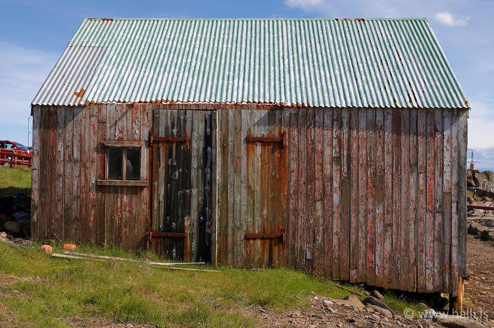 Old houses at Gjogur, Standir, Iceland - Hús og byggingar á Gjögri