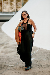 Street style, Demi Moore arriving at Stella McCartney Spring Summer 2022 show, held at Espace Niemeyer, Paris, France, on October 4, 2021. Photo by Marie-Paola Bertrand-Hillion/ABACAPRESS.COM