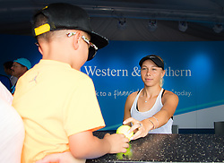 August 11, 2018 - Amanda Anisimova of the United States signs autographs at the 2018 Western & Southern Open WTA Premier 5 tennis tournament. Cincinnati, USA, August 11, 2018 (Credit Image: © AFP7 via ZUMA Wire)