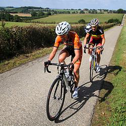 Boels Rental Ladies Tour Bunde-Valkenburg Marieke van Wanroij, Liesbet de Vocht in an attack