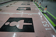 SHANGHAI, CHINA - MAY 12: (CHINA OUT) <br /> <br /> Shopping Mall Builds Parking Spaces For Females In Shanghai<br /> <br /> Shopping mall builds parking spaces for females on May 12, 2015 in Shanghai, China. The female only parking spaces were designed half a metre wider than ordinary ones in Shanghai.<br /> ©Exclusivepix Media