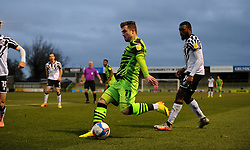 David Amoo of Port Vale chases down Nicky Cadden of Forest Green Rovers- Mandatory by-line: Nizaam Jones/JMP - 16/01/2021 - FOOTBALL - innocent New Lawn Stadium - Nailsworth, England - Forest Green Rovers v Port Vale - Sky Bet League Two