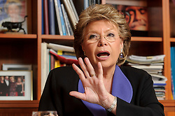 Viviane Reding, Vice President of the European Commission, speaks during an interview, in her office, at the EU Commission headquarters in Brussels, Belgium, on Thursday, Dec. 20, 2012. (Photo © Jock Fistick)