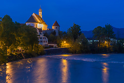 Franciscan Abby at the Lech River in Fussen Germany on a beautiful evening.