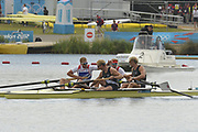 Eton Dorney, Windsor, Great Britain,<br /> <br /> 2012 London Olympic Regatta, Dorney Lake. Eton Rowing Centre, Berkshire.  Dorney Lake.   <br /> <br /> Final, Men's Pair GBR M2- Bow George NASH and Will SATCH and NZL M2-, Bow Eric MURRAY and Hamish BOND<br /> <br />  11:56:49  {DOW]  {DATE}    [Mandatory Credit: Peter Spurrier/Intersport Images]