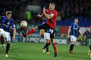 Cardiff city's Craig Bellamy in action. Npower championship, Cardiff city v Barnsley at the Cardiff city stadium in Cardiff, South Wales on Tuesday 9th April 2013. pic by Andrew Orchard,  Andrew Orchard sports photography,