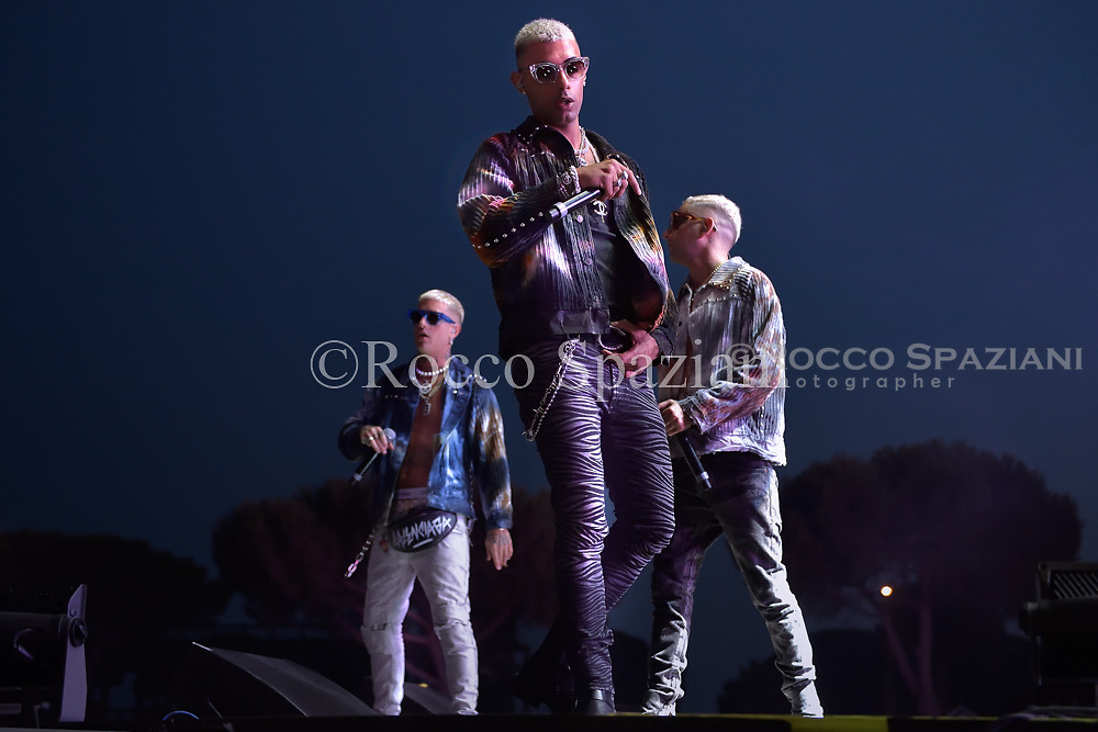 DARK POLO GANG performing live on stage in Rome at Rock in Roma festival in  Rome, Italy on 11 July 2018.