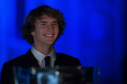 November 9, 2017 - London, England, United Kingdom - Alexander Zverev of Germany arrives at The Official Launch for ATP Finals, held at the Tower of London prior to the start of ATP World Tour Finals Tennis at O2 Arena, London on November 9, 2017. (Credit Image: © Alberto Pezzali/NurPhoto via ZUMA Press)