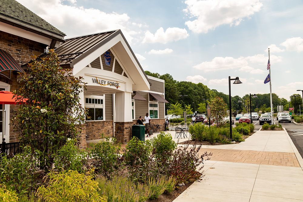 Valley Forge, PA – June 20, 2016: The new rest area and travel plaza on the Pennsylvania Turnpike.