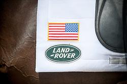 USA Team saddle cloth <br /> Dressage<br /> CCI4*  Luhmuhlen 2014 <br /> © Hippo Foto - Jon Stroud