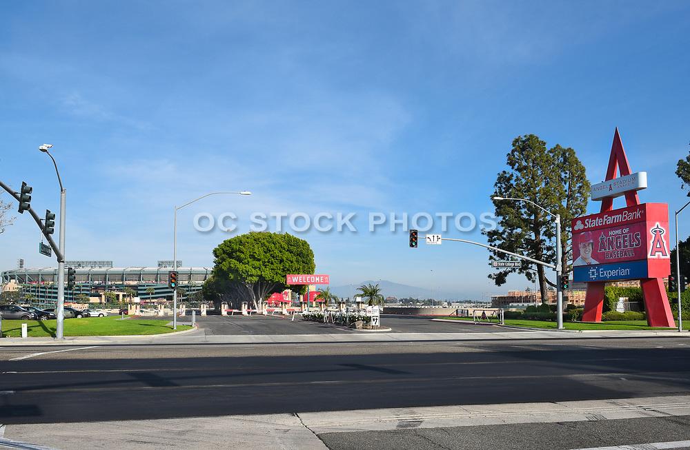 Angel Stadium State College Blvd Entrance