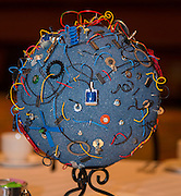 Student globes are displayed during the State of the Schools luncheon, February 11, 2015.