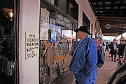 Visitors at Old West Cowboy Store on Allen St., Helldorado Days, Tombstone, Arizona. ©Edward McCain/McCain Creative, Inc. All Rights Reserved 520-623-1998