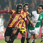 Galatasaray's Emre COLAK (L) and Beypazari Sekerspor's Caner ARICI (R) during their Turkey Cup Group A matchday 3 soccer match Galatasaray between Beypazari Sekersporat the AliSamiYen stadium in Istanbul Turkey on Tuesday 11 January 2011. Sports fans, knee collapsed and the world of European giants 'hell' as a name from the Ali Sami Yen stadium to play matches with Turkey Sekerspor Beypazari Cup farewell. Sports, 47-year sanctuary 'goodbye,' he says. Photo by TURKPIX