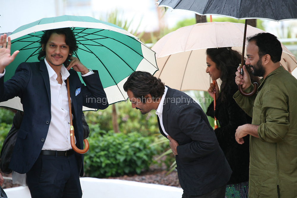 Actors Vijay Verma, Nawazuddin Siddiqui, actress Tannishtha Chatterjee and director Amit Kumar at the Monsoon Shootout film photocall at the Cannes Film Festival 18th May 2013