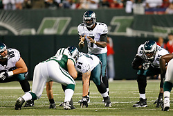 Philadelphia Eagles quarterback Michael Vick #7 during the NFL game between the Philadelphia Eagles and the New York Jets on September 3rd 2009. The Jets won 38-27 at Giants Stadium in East Rutherford, NJ.  (Photo By Brian Garfinkel)