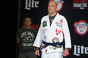 Houston, Texas - February 18, 2016: Royce Gracie weighs-in before his fight against Ken Shamrock during the Bellator 149 weigh-ins at the Toyota Center in Houston, Texas on February 18, 2016. (Cooper Neill for ESPN)