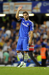 "Chelsea's  match winner Branislav Ivanovic thanks the Chelsea fans  - Photo mandatory by-line: Joe Meredith/JMP - Tel: Mobile: 07966 386802 21/08/2013 - SPORT - FOOTBALL - Stamford Bridge - London - Chelsea V Aston Villa - Barclays Premier League - EDITORIAL USE ONLY. No use with unauthorised audio, video, data, fixture lists, club/league logos or ""live"" services. Online in-match use limited to 45 images, no video emulation. No use in betting, games or single club/league/player publications"