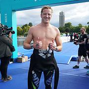 London, England, UK. 16th September 2017.Ferry Weertman winner of Elite men Swim Serpentine 2017 at Serpentine lake.