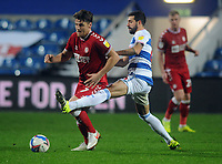 Football - 2020 / 2021 Sky Bet Championship - Queens Park Rangers vs Bristol City - The Kiyan Prince Foundation Stadium<br /> <br /> Chris Martin of Bristol and Yoann Barbet of QPR<br /> <br /> <br /> COLORSPORT/ANDREW COWIE
