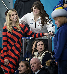 Ivanka Trump poses for a photo with USA curler Becca Hamilton at the Gangneung Curling Centre on Saturday, Feb. 24, 2018, at the Pyeongchang Winter Olympics. Photo by Carlos Gonzalez/Minneapolis Star Tribune/TNS/ABACAPRESS.COM