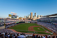 A general view of Target Field during a game between the Los Angeles Angels and the Minnesota Twins on August 22, 2010 in Minneapolis, Minnesota.