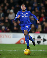 Kenneth Zohore of Cardiff city in action . EFL Skybet championship match, Cardiff city v Preston North End at the Cardiff city stadium in Cardiff, South Wales on Friday 29th December 2017.<br /> pic by Andrew Orchard, Andrew Orchard sports photography.
