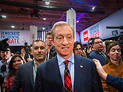 "14 JANUARY 2020 - DES MOINES, IOWA: California businessman TOM STEYER walks through the crowd in the ""spin room"" at the CNN Democratic Presidential Debate on the campus of Drake University in Des Moines. This is the last debate before the Iowa Caucuses on Feb. 3.    PHOTO BY JACK KURTZ"