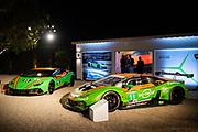 August 15, 2019:  Monterey Car Week, #11 GRT Grasser Racing Team Lamborghini Huracan GT3, Orange 1 Racing, GTD: Mirko Bortolotti, Christian Engelhart, Rik Breukers, Rolf Ineichen, Lamborghini Huracan GT Celebration