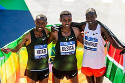 04-11-2018 USA: 2018 TCS NYC Marathon, New York<br /> Race day TCS New York City Marathon / Shura Kitata, Lelisa Desisa win 2018 TCS New York City Marathon Title and Geoffrey Kamworor