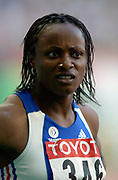 Heptathlon runner-up Eunice Barber of France in the IAAF World Championships in Athletics at Stade de France on Sunday, Aug, 24, 2003.