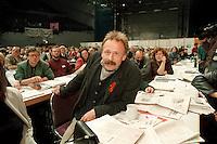 02 DEC 1995, BREMEN/GERMANY:<br /> Juergen Trittin, B90/Gruene, waehrend der 6. ordentl. Bundesdelegiertenkonferenz, BDK, von Buendnis 90/Die Gruenen<br /> IMAGE: 19951202-01/06-35<br /> KEYWORDS: Party Congress, Jürgen Trittin